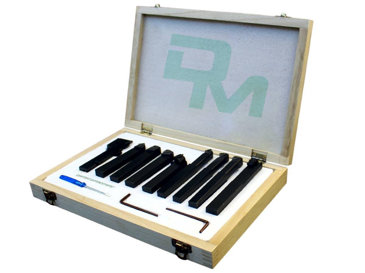 Kit utensili per tornio con placche intercambiabili