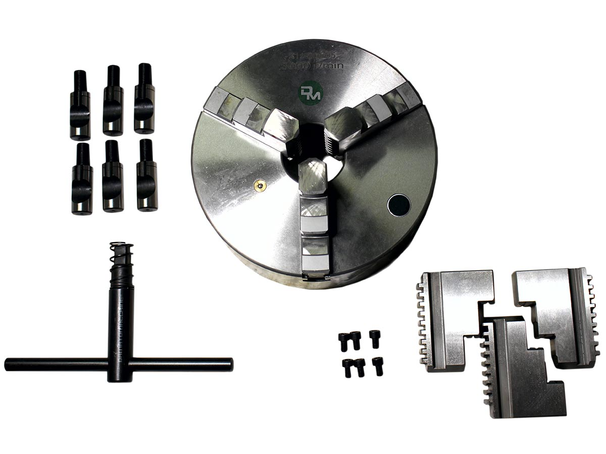 Mandrino per tornio a 4 pinze indipendenti con diametro di 200 mm