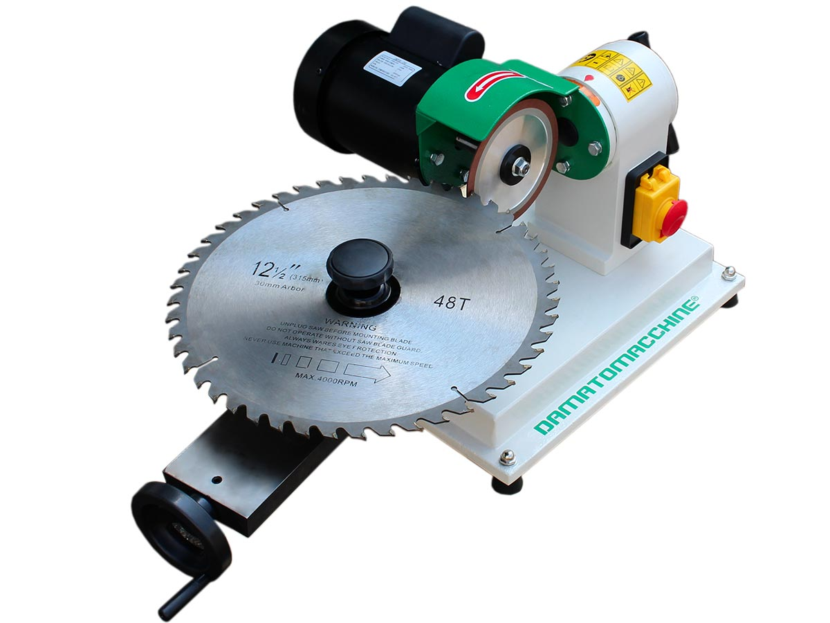 Sharpening machine for mortising bits and saw Blades