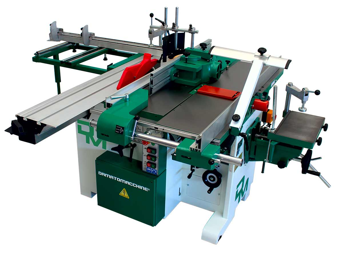 Combination woodworking machine 7 function with saw blade diameter of 315 mm model America 1600-310 powered by Damatomacchine