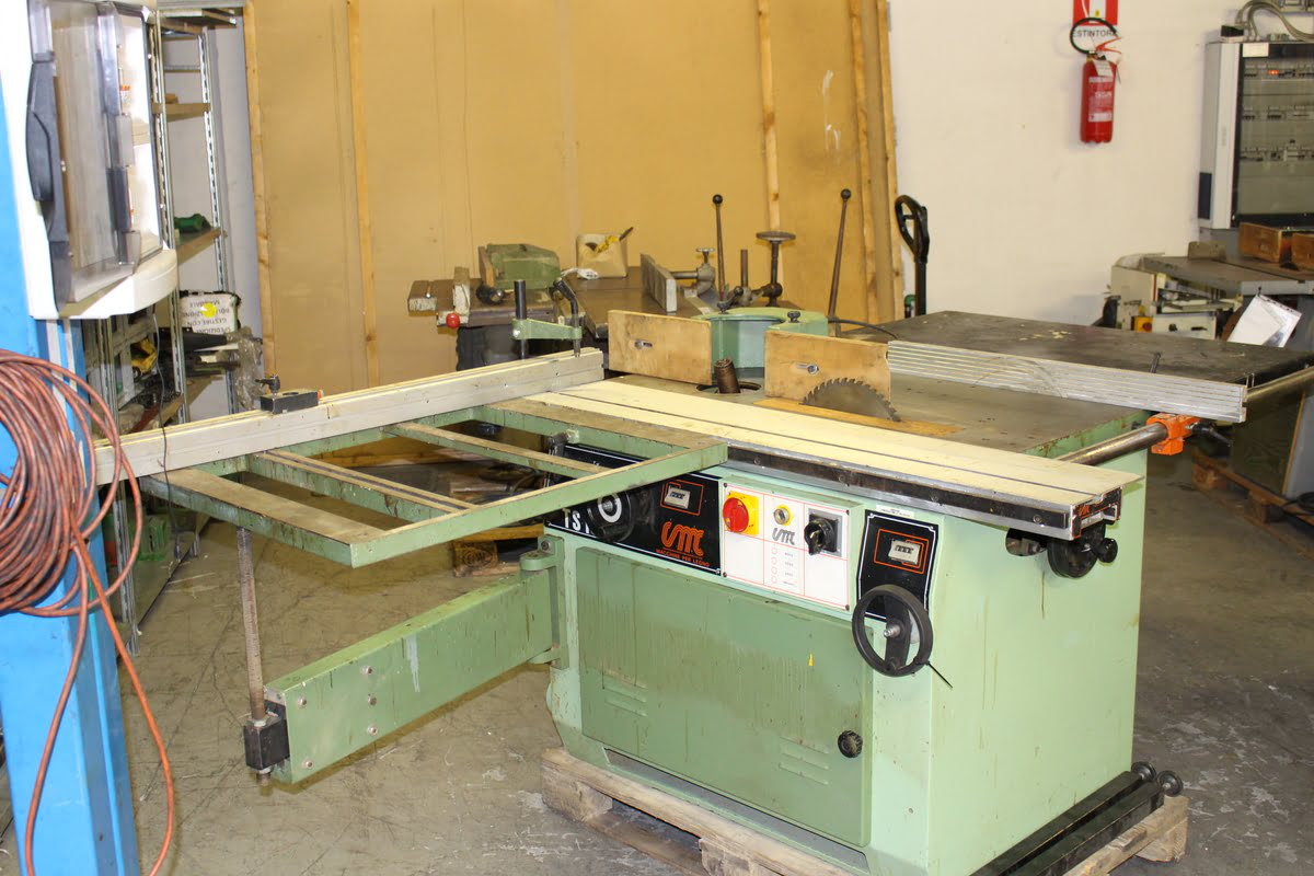 CMC spindle moulder saw with three-phase tilting shaft used