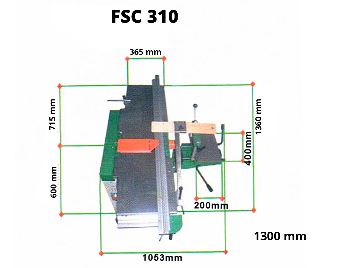 Degauchisseuse-Raboteuse FSC 310