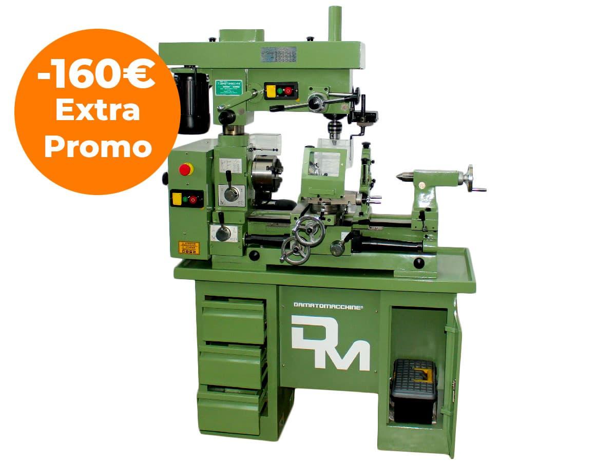 Torno Fresadora Taladradora para trabajar los metales modelo Master 520 de Damatomacchine