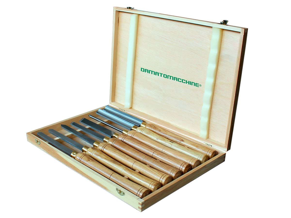 Kit di 8 Sgorbie per lavorare con i Torni  da legno