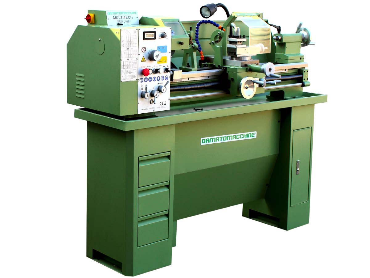 Lathe with 880 mm distance between centers, 1500 W single-phase motor (three-phase version is available on request)